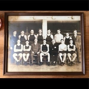 Vintage  Photo of Men's Wrestling team in 1920's